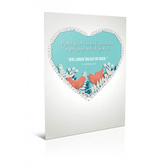 Čestitka - Jer ljubav dolazi od Boga