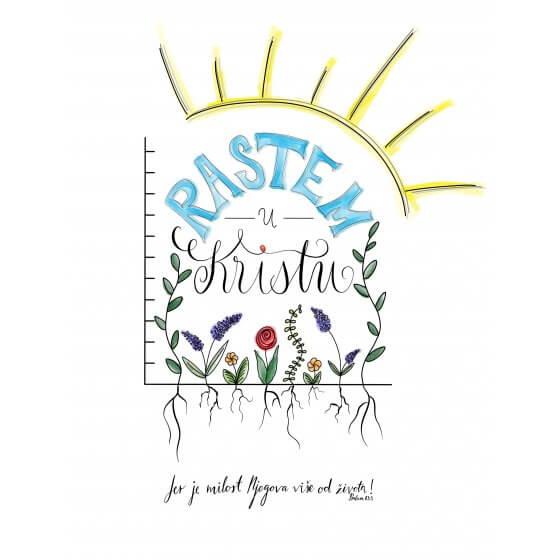 Poster - Rastem u Kristu