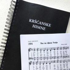 Kršćanske himne, veliki format, s notama