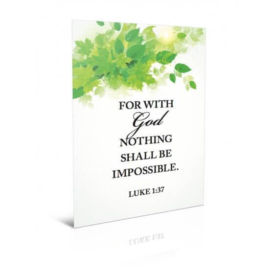 Čestitka - Nothing shall be impossible