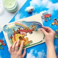 Noina arka, drvene puzzle za djecu