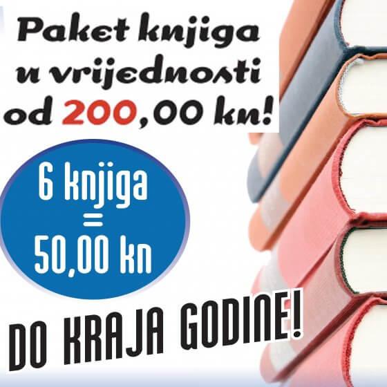 Paket knjiga u vrijednosti od 200,00 kn!