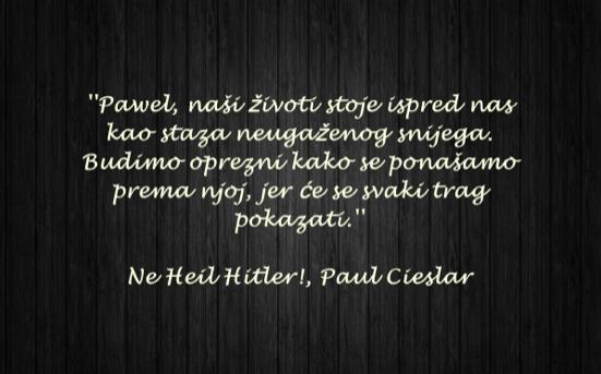 """""""Ne Heil Hitler!"""" knjiga je autora Paula Cieslara"""